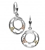 7154 Tri Colour Celtic Earrings