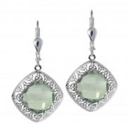 Green Amethyst Trinity Knot Earrings 7172