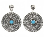 Sleeping Beauty Turquoise Oxidised Earrings 7174