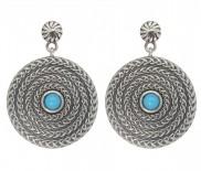 Sleeping Beauty Turquoise Oxidised Earrings 7174