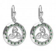 7177 Tir Na nOg Earrings with Blue or Green crystals