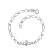 Claddagh Sterling Silver Bracelet 8401