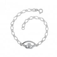 Claddagh Sterling Silver Bracelet 8403