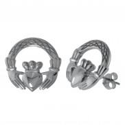 8523 Claddagh Stud Earrings