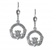 8723 Claddagh Weave Drop Earrings
