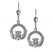 8723 Claddagh Weave Drop Earrings