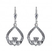8727 Claddagh Weave Drop Earrings