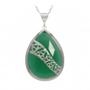 Trinity Pendant Choose Green Onyx or Sodalite - 2202