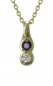 Family Colours 2 Stone Pendant - 2302