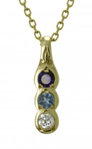 Family Colours 3 Stone Pendant - 2303