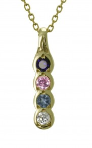 Family Colours 4 Stone Pendant - 2304