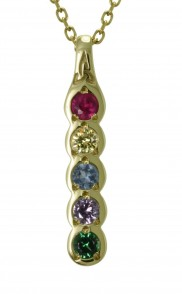Family Colours 5 Stone Pendant - 2305