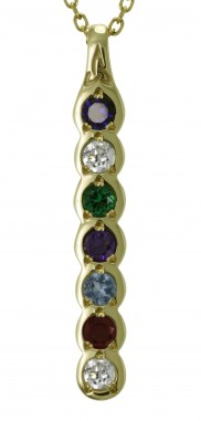Family Colours 7 Stone Pendant - 2307