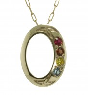 Family Colours 4 Stone Pendant - 2314