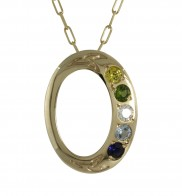 Family Colours 5 Stone Pendant - 2315