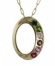 Family Colours 6 Stone Pendant - 2316