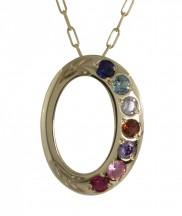 Family Colours 7 Stone Pendant - 2317
