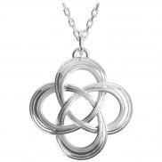 2512 Etched celtic love knot pendant