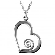 Heart pendant with Spiral detail - 2514