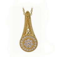 18ct Gold Plated Sterling Silver Elegance Pendant 2555