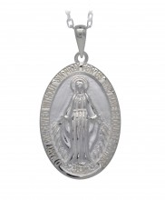 Large Miraculous Medal Sterling Silver   6053