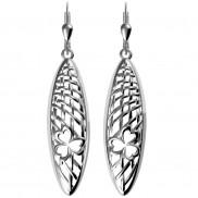 7180 Organic feel shamrock weave earrings with contrasting finish