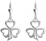 7181 Etched finish shamrock earrings