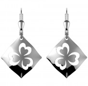 7183 Highly polished cut out shamrock earrings