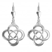 7184 Etched celtic love knot earrings