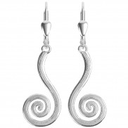 7188 Etched finish spiral earrings