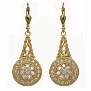 18ct Gold Plated Sterling Silver Elegance Earrings 7200