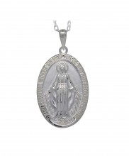 Medium Miraculous Medal Sterling Silver   6052