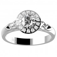 Diamond Round Halo Ring - 150