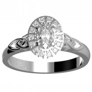 Diamond Oval Halo Ring - 152