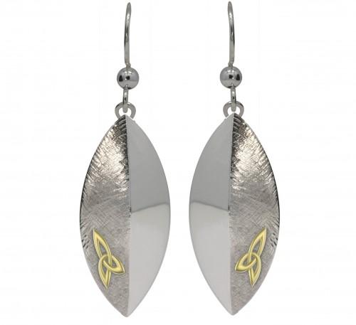 Silver Trinity Knot Earrings