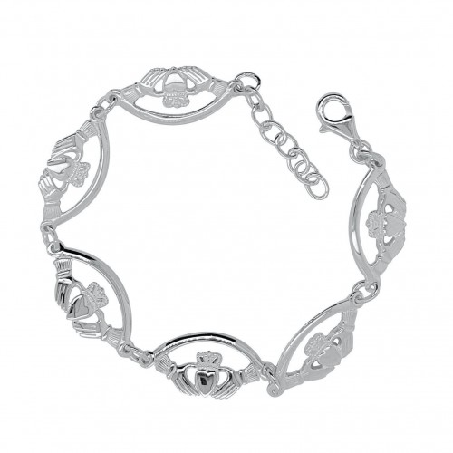 Sterling Silver Claddagh Bracelet with Extender