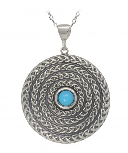 Sleeping Beauty Turquoise Celtic Pendant