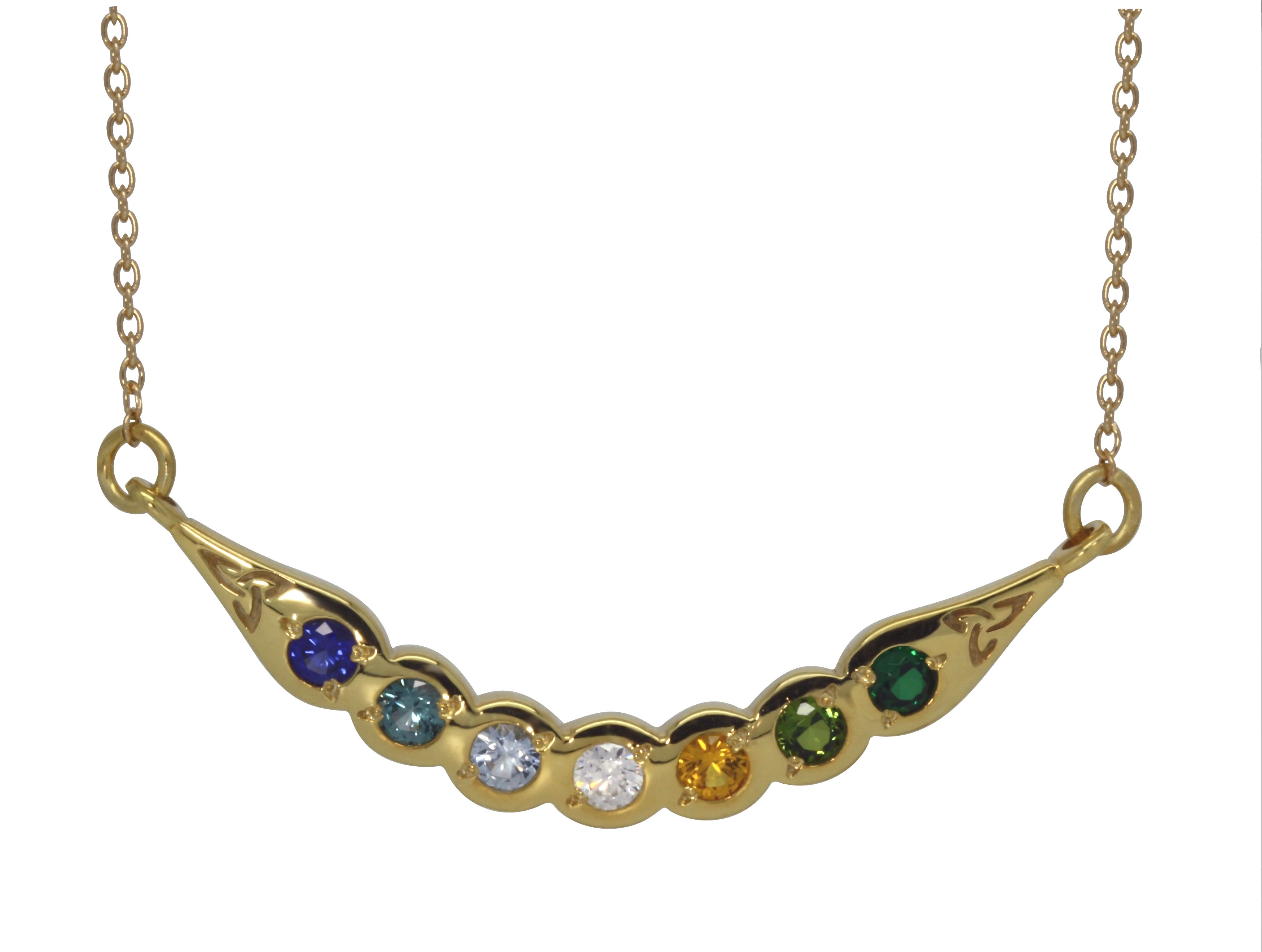 Family Colours Necklet, 7 Stones